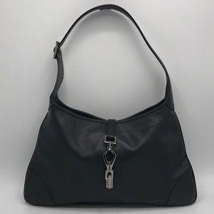 Authentic Gucci Jackie Black Leather Shoulder Bag
